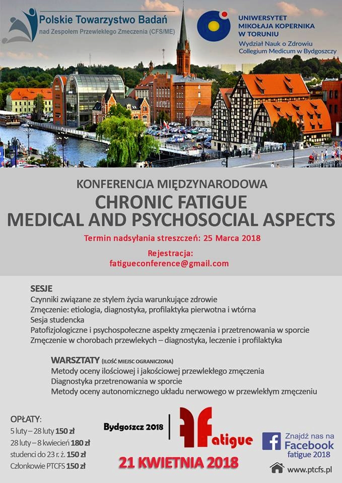 konferencja CHRONIC FATIGUE – MEDICAL AND PSYCHOSOCIAL ASPECTS plakat